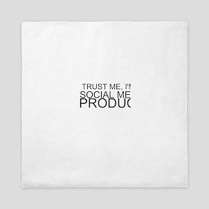 Trust Me, I'm A Social Media Producer Queen Duvet