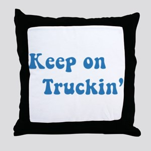 Keep on Truckin' Throw Pillow