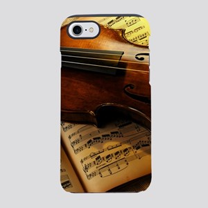 Violin On Music Sheet iPhone 8/7 Tough Case