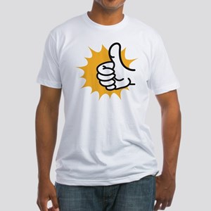 thumbs up Fitted T-Shirt