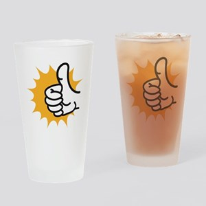 thumbs up Drinking Glass
