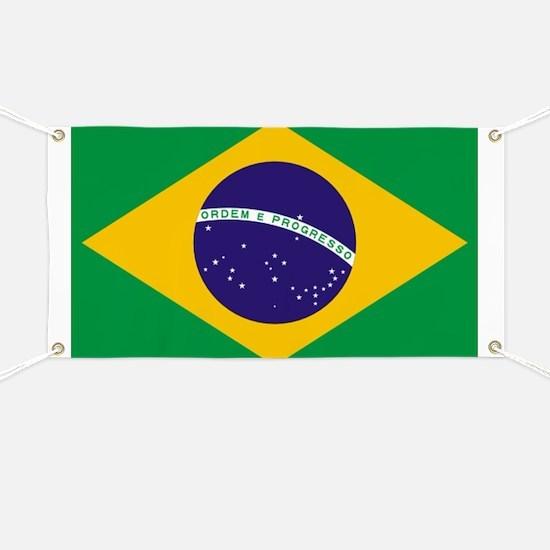 Brazilian Brazil Flag Banner