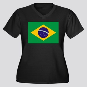 Brazilian Brazil Flag Plus Size T-Shirt