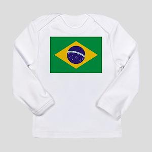 Brazilian Brazil Flag Long Sleeve T-Shirt