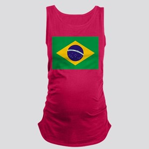 Brazilian Brazil Flag Maternity Tank Top