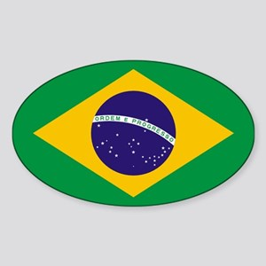 Brazilian Brazil Flag Sticker
