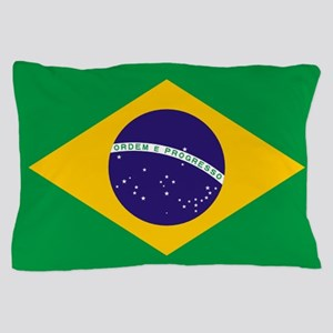 Brazilian Brazil Flag Pillow Case
