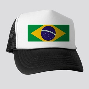 Brazilian Brazil Flag Trucker Hat