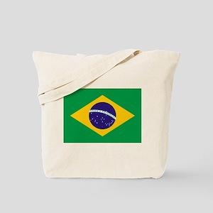 Brazilian Brazil Flag Tote Bag