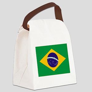 Brazilian Brazil Flag Canvas Lunch Bag