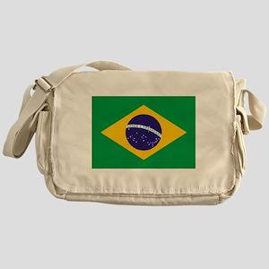 Brazilian Brazil Flag Messenger Bag