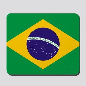 Brazilian Brazil Flag Mousepad