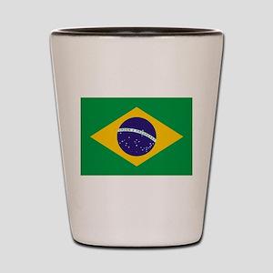 Brazilian Brazil Flag Shot Glass