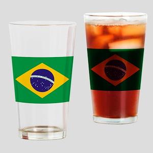 Brazilian Brazil Flag Drinking Glass