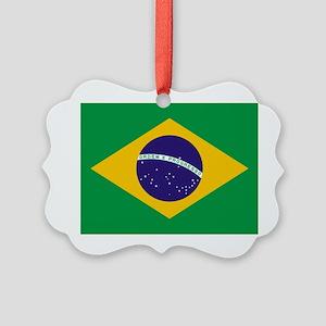 Brazilian Brazil Flag Picture Ornament