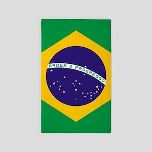 Brazilian Brazil Flag Area Rug