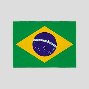 Brazilian Brazil Flag 5'x7'Area Rug