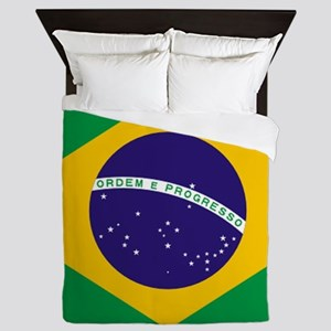 Brazilian Brazil Flag Queen Duvet
