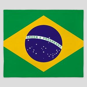 Brazilian Brazil Flag King Duvet