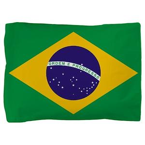 Brazilian Brazil Flag Pillow Sham