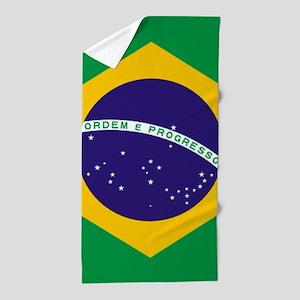 Brazilian Brazil Flag Beach Towel