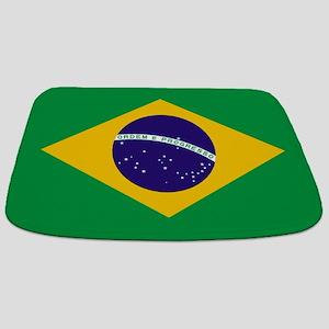 Brazilian Brazil Flag Bathmat