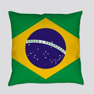 Brazilian Brazil Flag Everyday Pillow