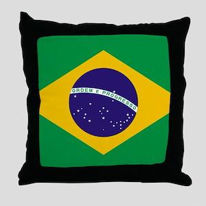 Brazilian Brazil Flag Throw Pillow