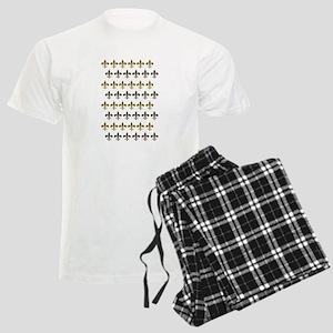 Fleur De Lis Flock Men's Light Pajamas