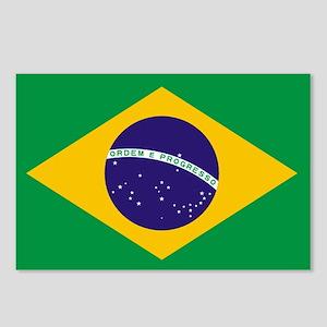 Brazilian Brazil Flag Postcards (Package of 8)