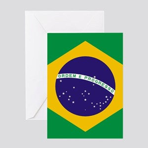 Brazilian Brazil Flag Greeting Cards