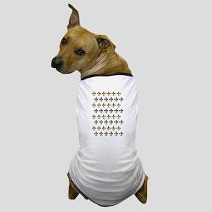 Fleur De Lis Flock Dog T-Shirt