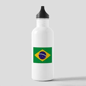 Brazilian Brazil Flag Stainless Water Bottle 1.0L