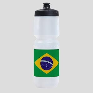 Brazilian Brazil Flag Sports Bottle
