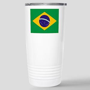 Brazilian Brazil Flag Stainless Steel Travel Mug