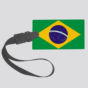 Brazilian Brazil Flag Large Luggage Tag
