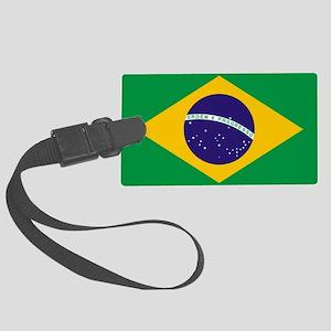 Brazilian Brazil Flag Large Luggage Tag