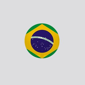 Brazilian Brazil Flag Mini Button