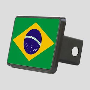 Brazilian Brazil Flag Rectangular Hitch Cover