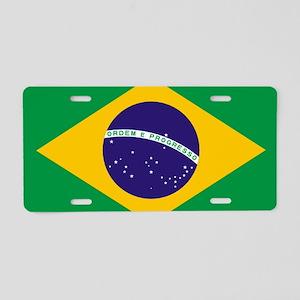 Brazilian Brazil Flag Aluminum License Plate