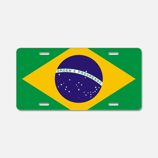 Brazilian Brazil Flag Aluminum License Plate