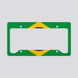 Brazilian Brazil Flag License Plate Holder