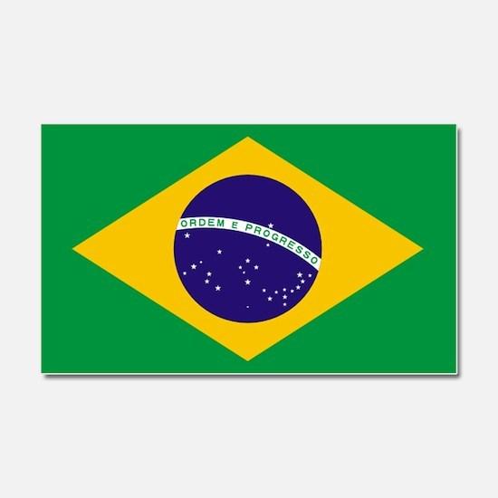 Brazilian Brazil Flag Car Magnet 20 x 12