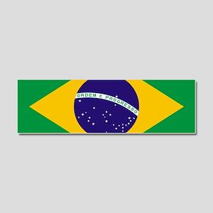 Brazilian Brazil Flag Car Magnet 10 x 3