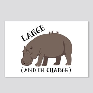 Large In Charge Postcards (Package of 8)
