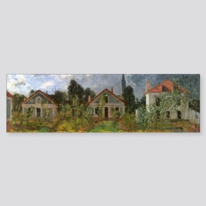 Houses at Argenteuil by Claude Mone Bumper Sticker