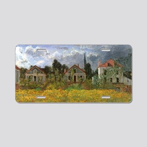 Houses at Argenteuil by Cla Aluminum License Plate