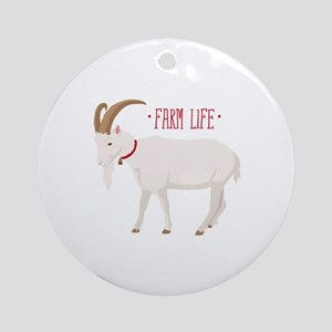 Farm Life Round Ornament