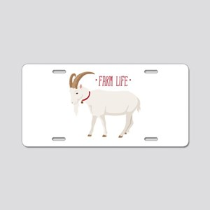 Farm Life Aluminum License Plate