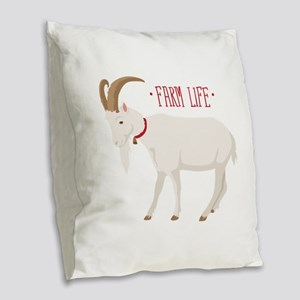 Farm Life Burlap Throw Pillow